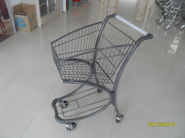 চীন Wheeled Zinc Plated 40L Supermarket Shopping Cart For Personal Shop কারখানা