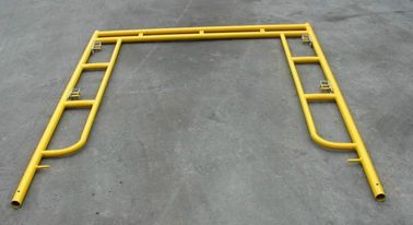 Yellow Coated Low Carbon Walk Through Scaffolding Frames American Design 5x5