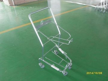 চীন Four Wheeled Shopping Trolley / Shopping Basket Trolley 50KGS capacity কারখানা