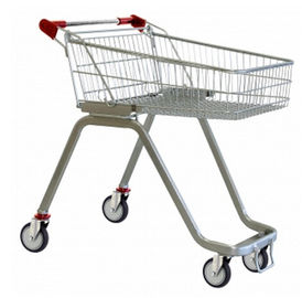 চীন Anti UV Handle Supermarket Shopping Trolley with Swivel Casters কারখানা